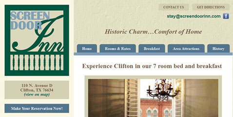 Screen Door Inn website