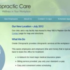 Onsite Chiropractic Care website